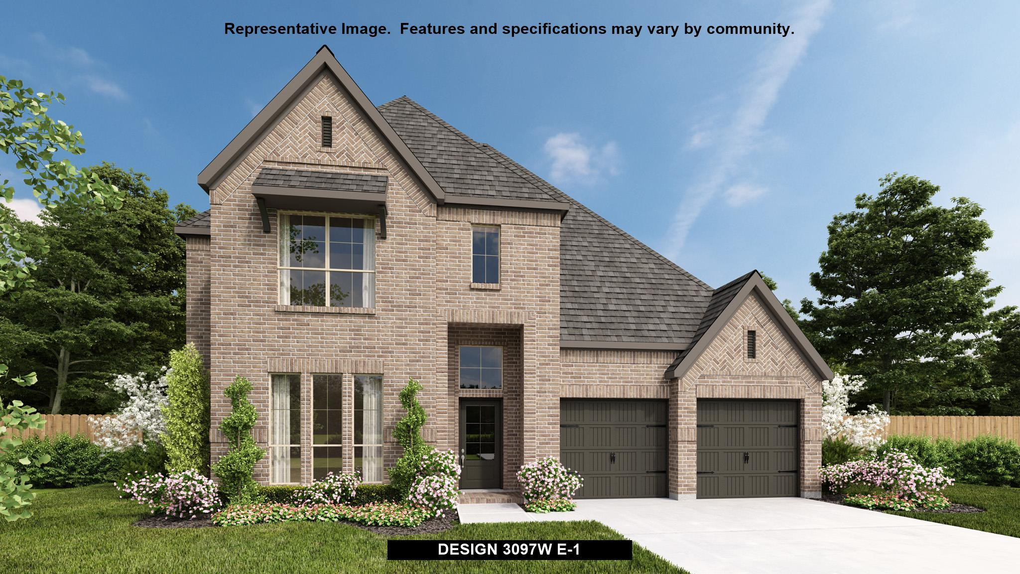 Exterior featured in the 3097W By Perry Homes in Houston, TX