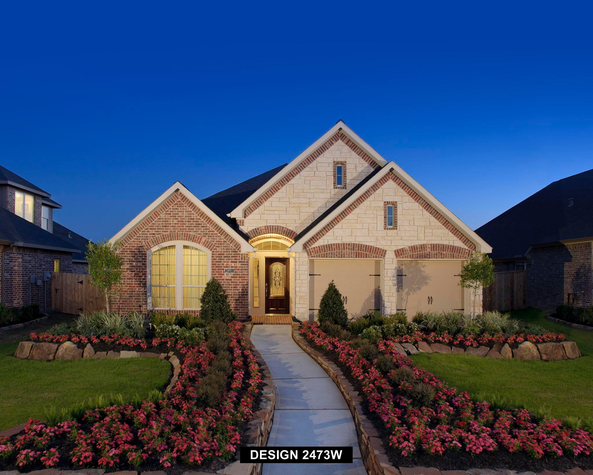 Exterior featured in the 2473W By Perry Homes in Houston, TX