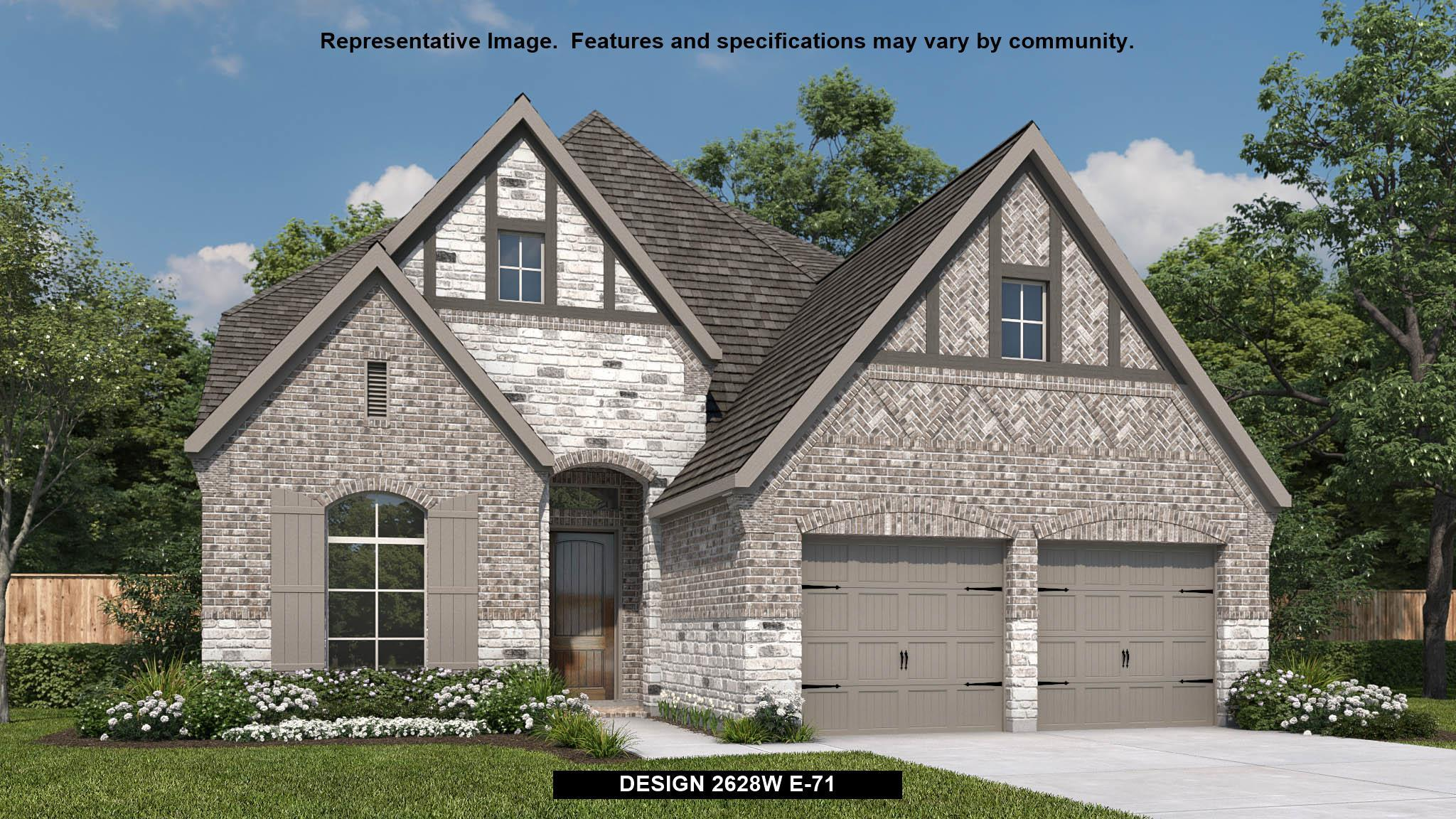 Exterior featured in the 2628W By Perry Homes in Houston, TX