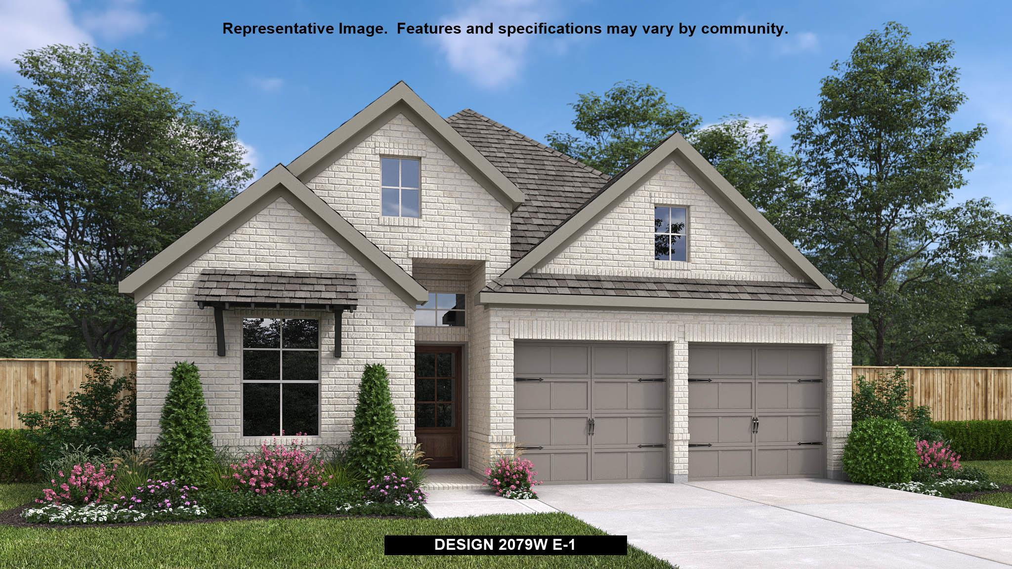 Exterior featured in the 2079W By Perry Homes in Houston, TX