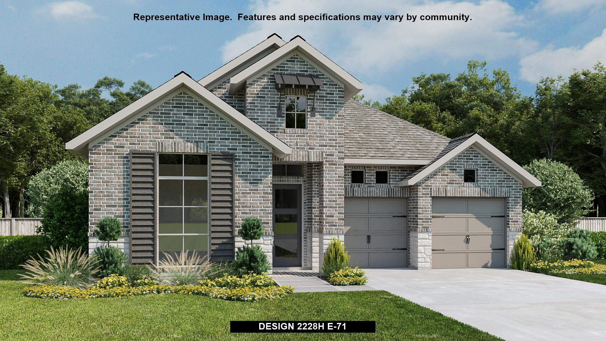 Exterior featured in the 2228H By Perry Homes in San Antonio, TX