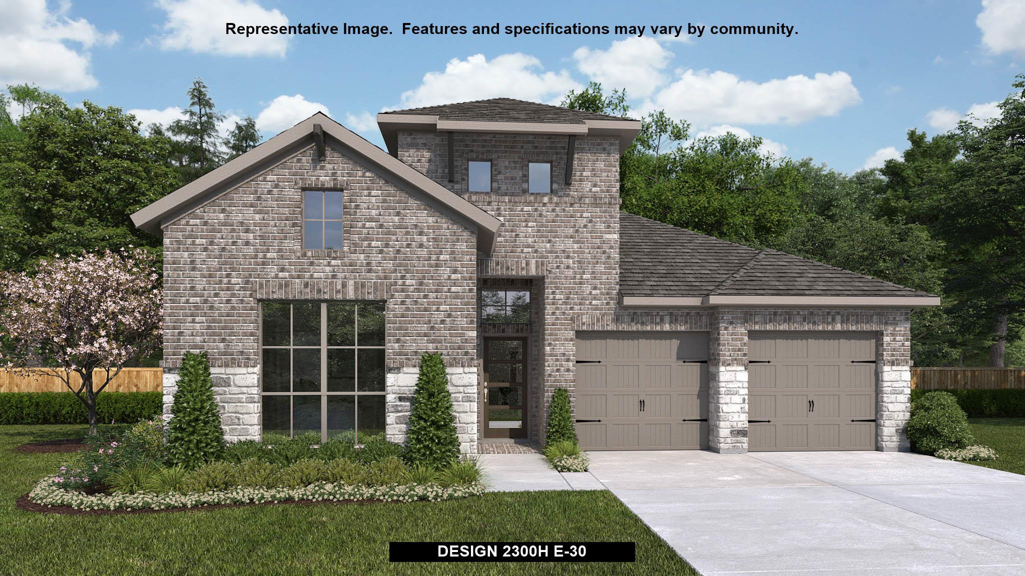 Exterior featured in the 2300H By Perry Homes in San Antonio, TX