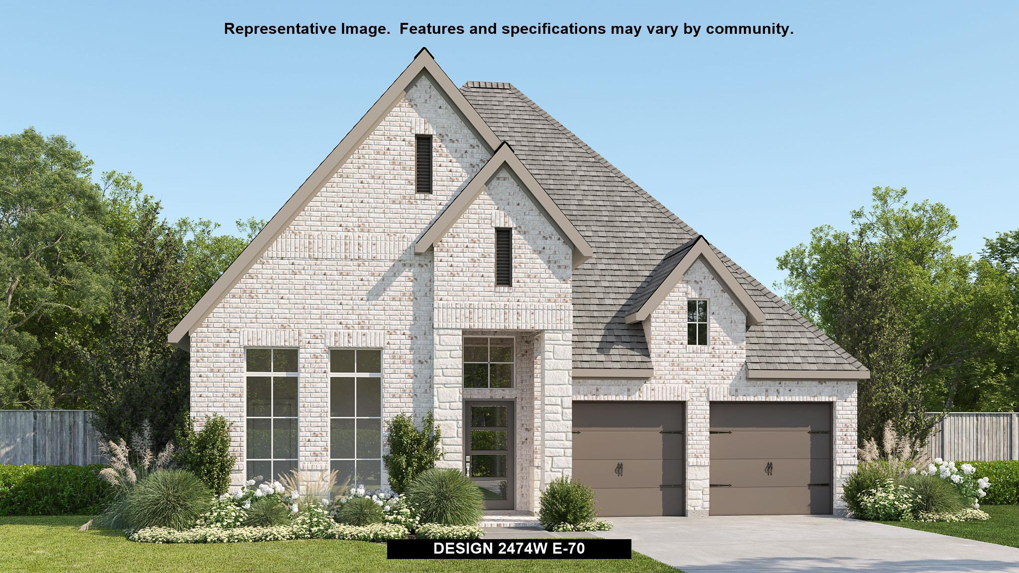 Exterior featured in the 2474W By Perry Homes in San Antonio, TX