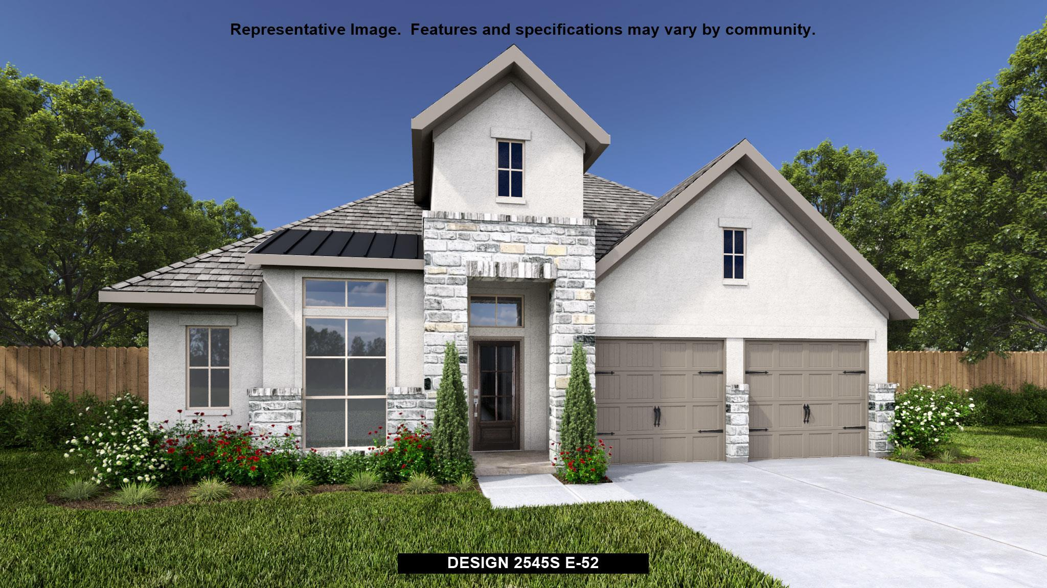 Exterior featured in the 2545S By Perry Homes in San Antonio, TX