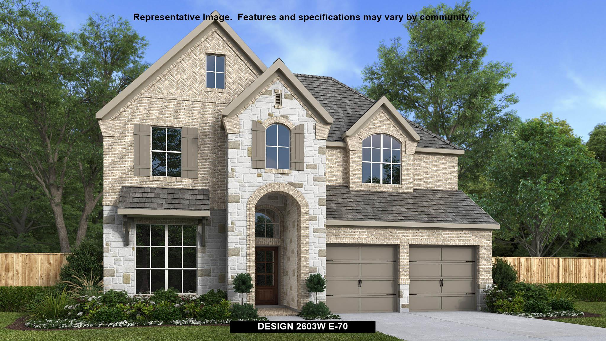 Exterior featured in the 2603W By Perry Homes in San Antonio, TX