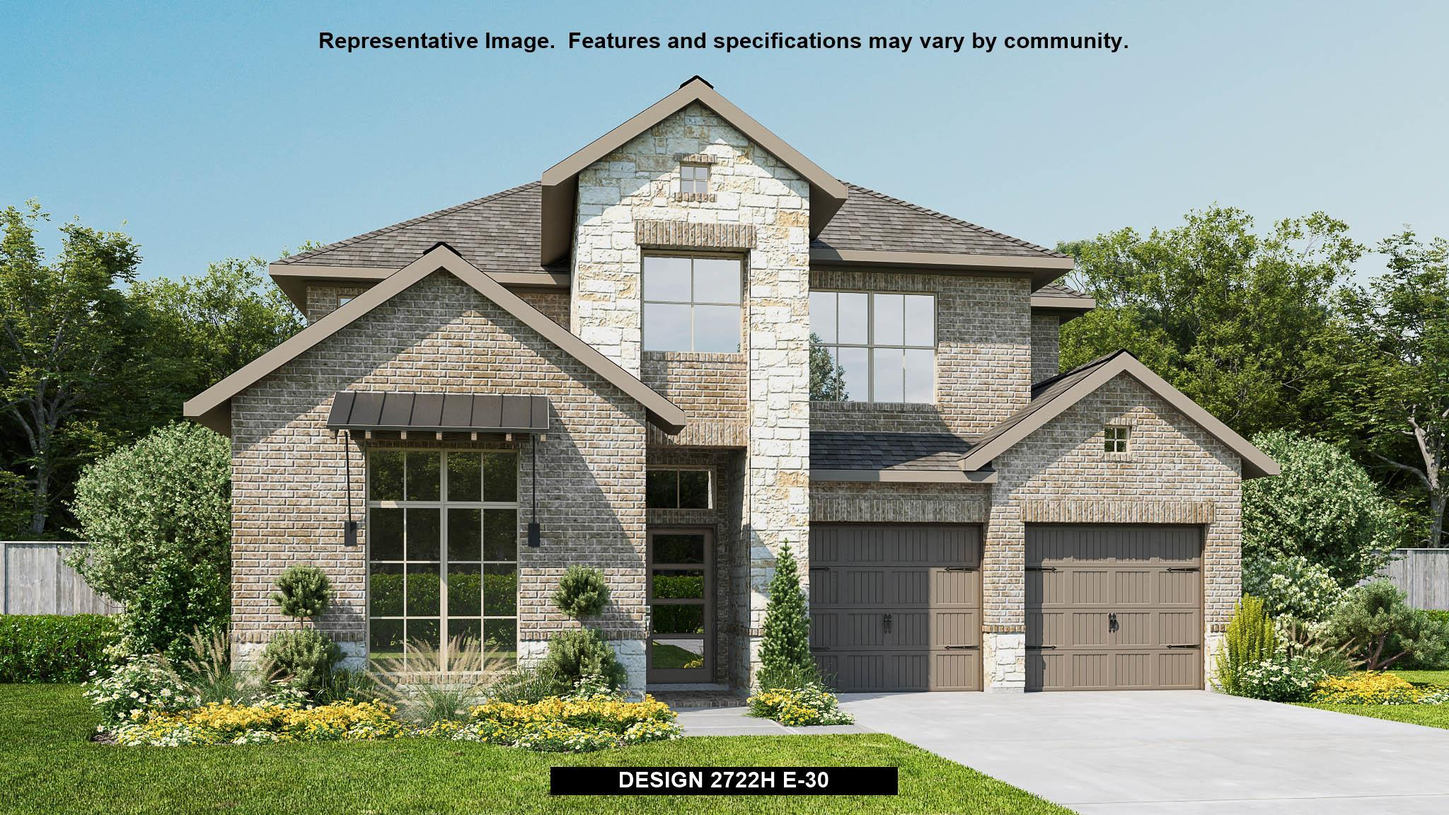 Exterior featured in the 2722H By Perry Homes in Austin, TX