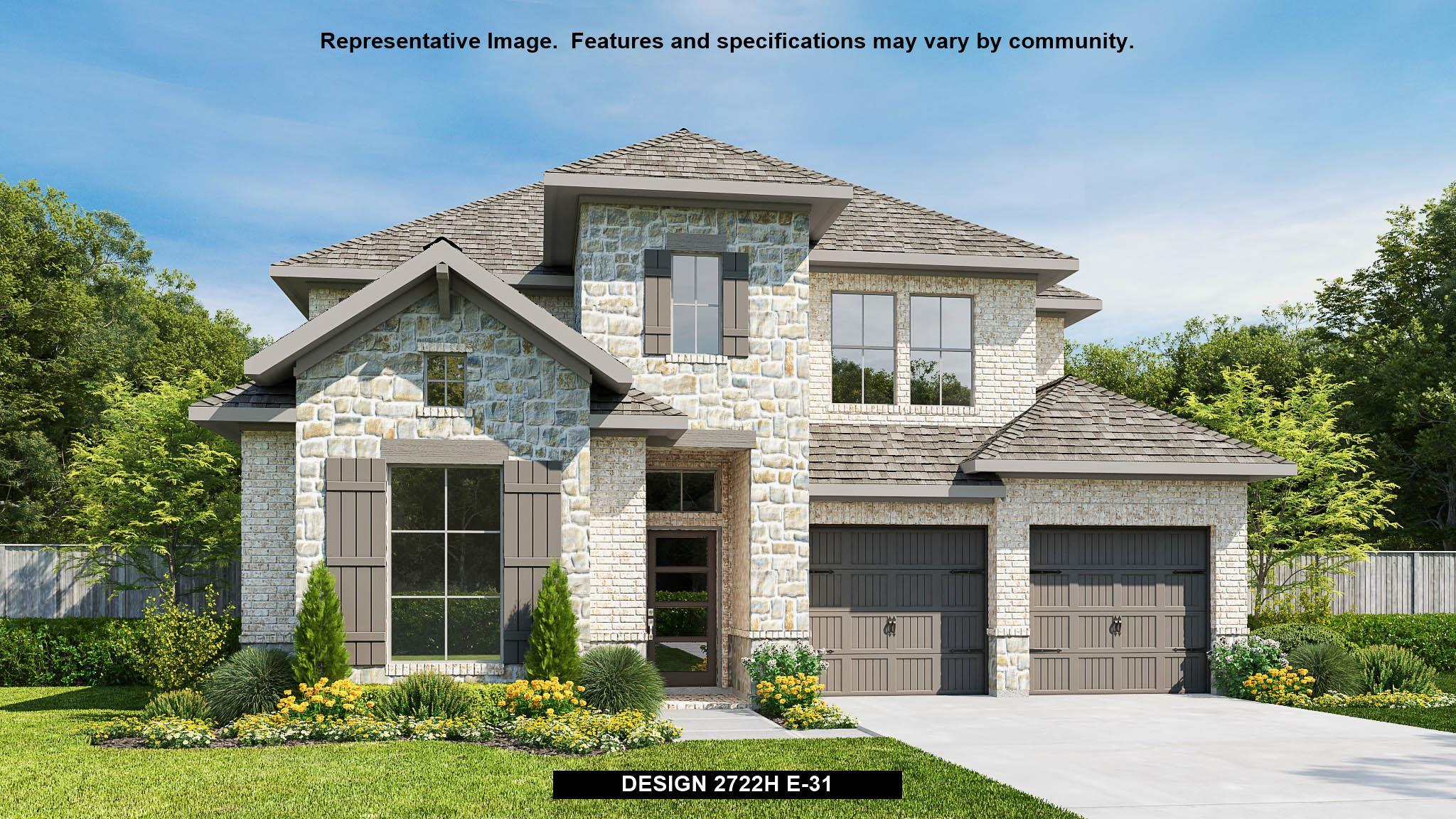 Exterior featured in the 2722H By Perry Homes in San Antonio, TX
