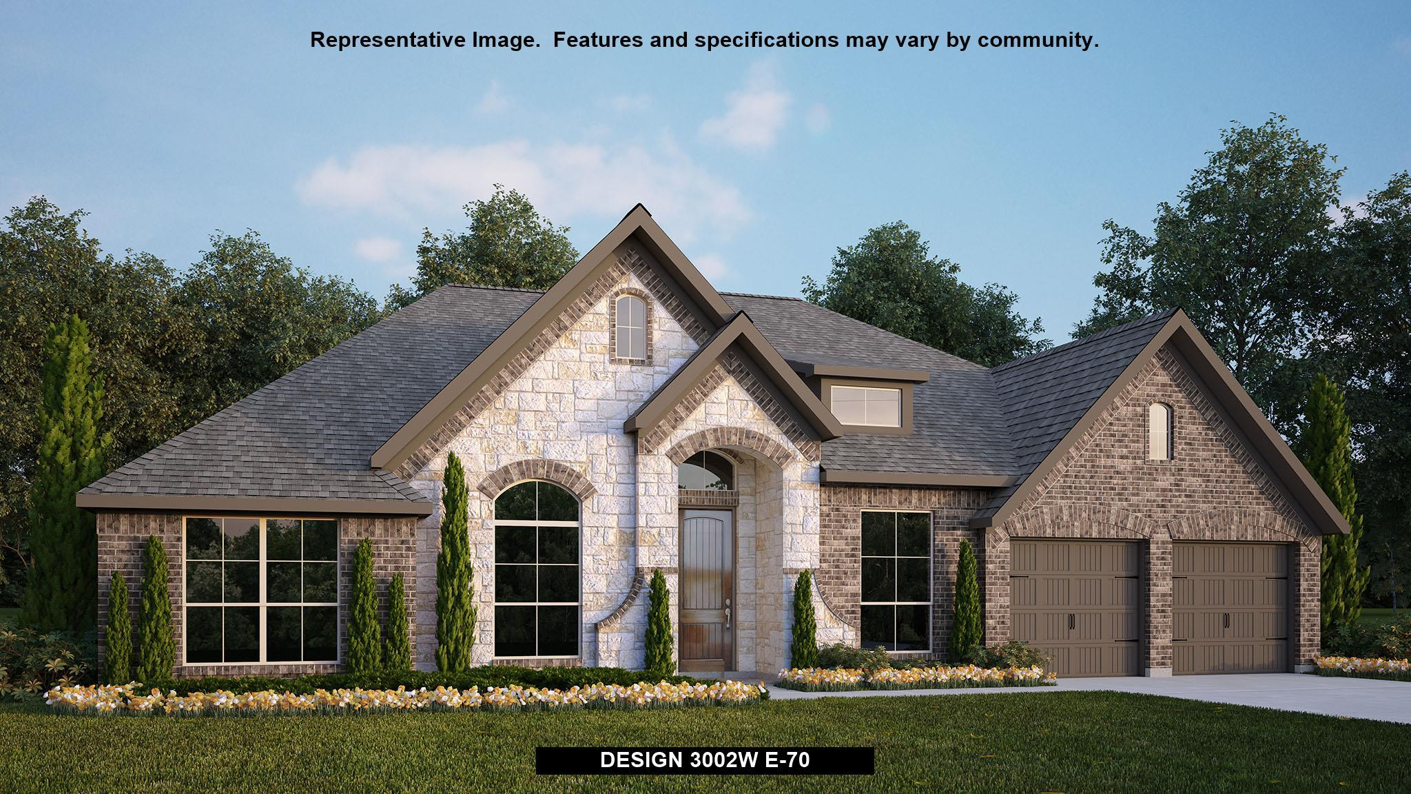 Exterior featured in the 3002W By Perry Homes in San Antonio, TX