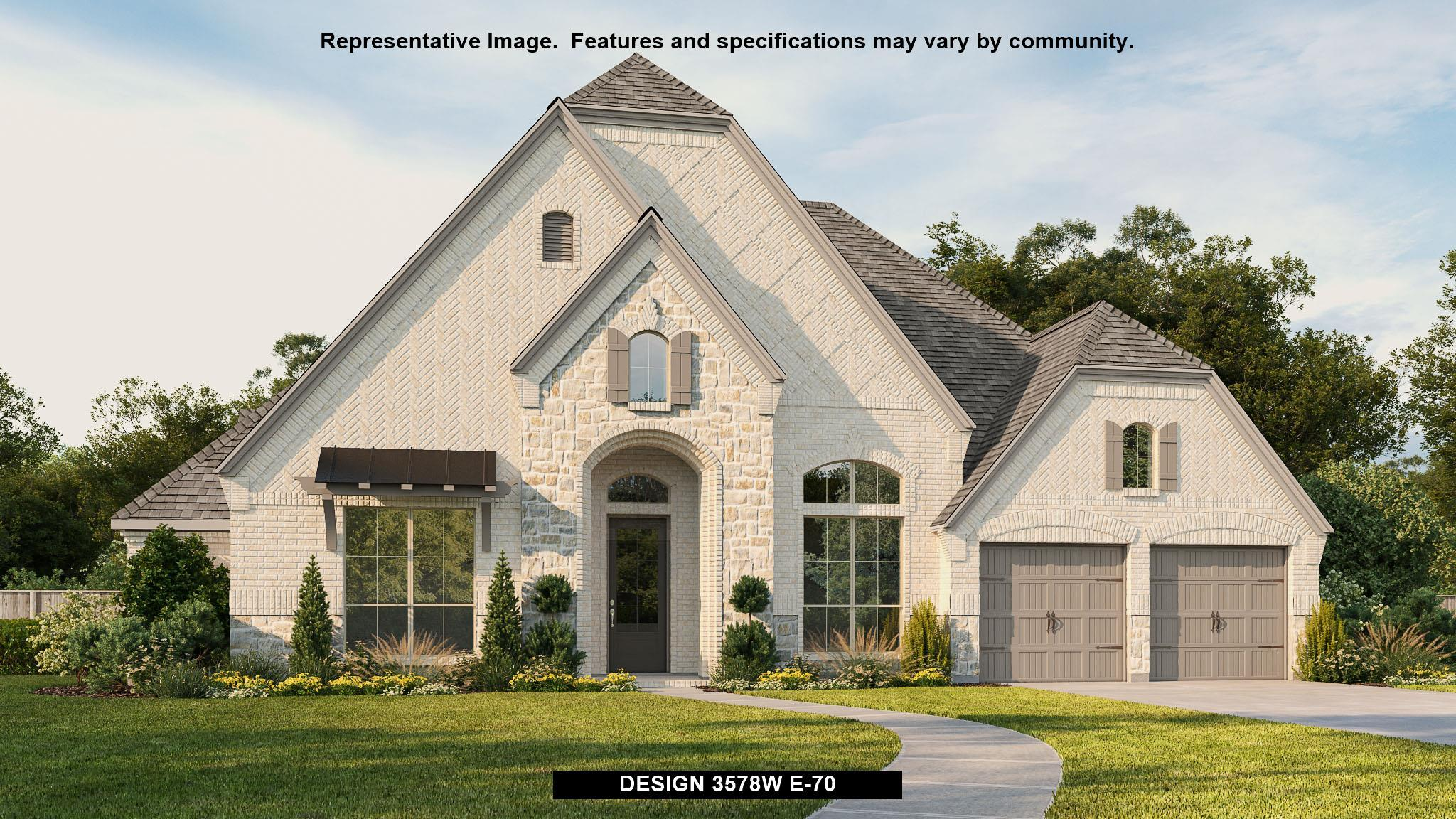 Exterior featured in the 3578W By Perry Homes in Houston, TX