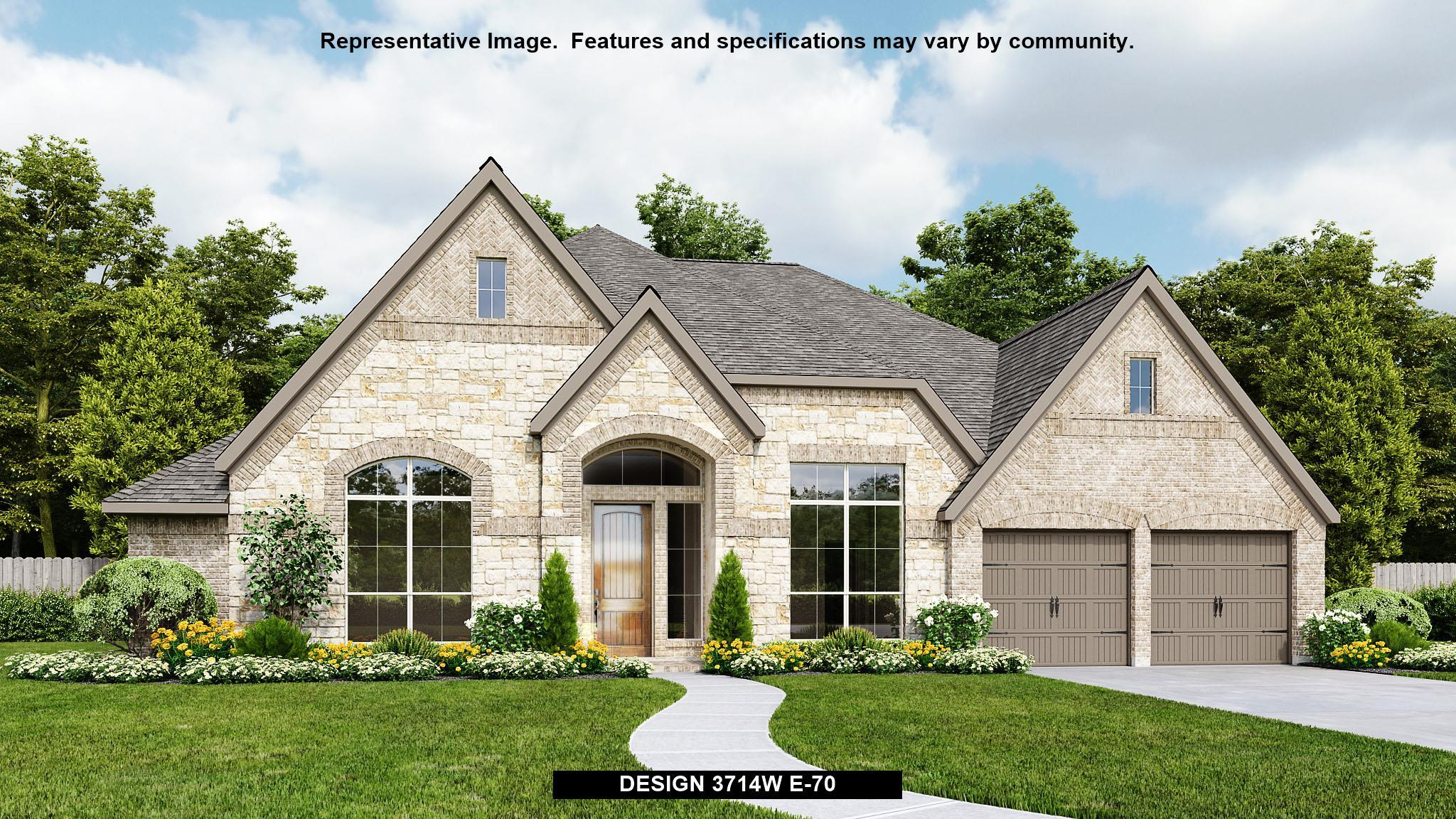 Exterior featured in the 3714W By Perry Homes in Houston, TX