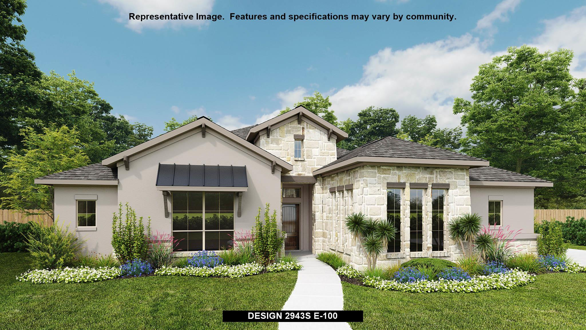 Exterior featured in the 2943S By Perry Homes in San Antonio, TX