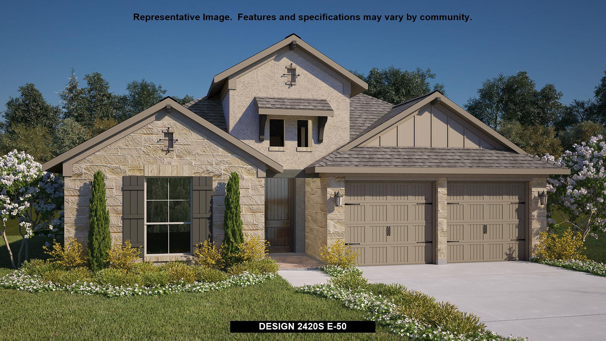 Exterior featured in the 2420S By Perry Homes in San Antonio, TX