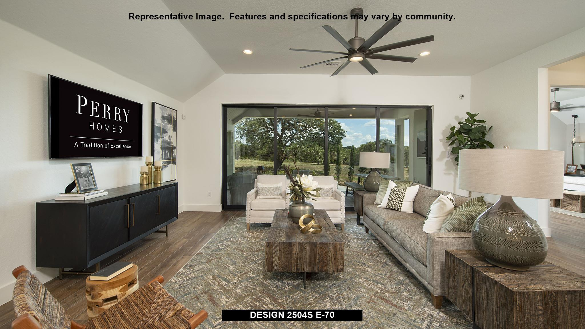 Living Area featured in the 2504S By Perry Homes in San Antonio, TX