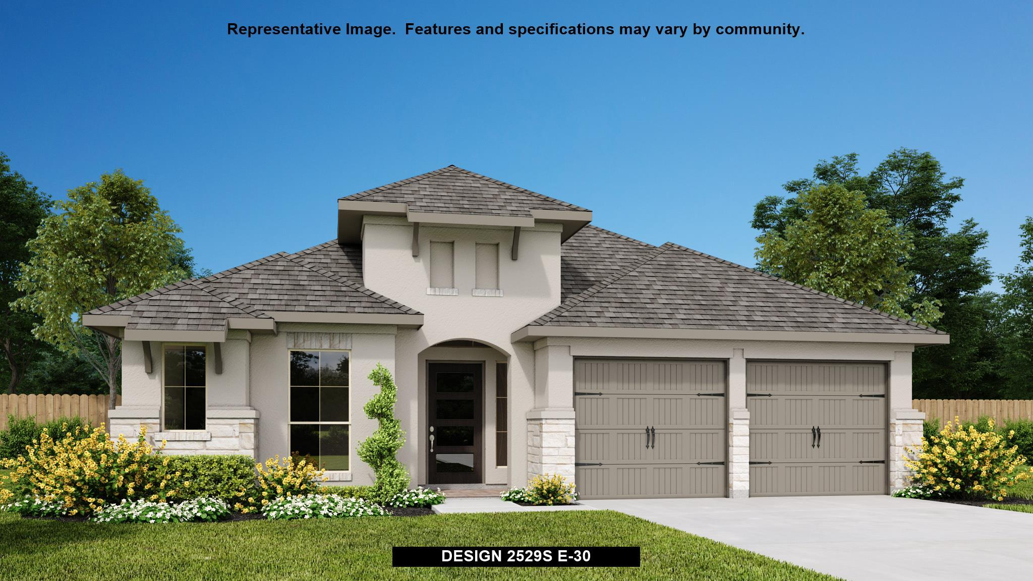 Exterior featured in the 2529S By Perry Homes in Austin, TX