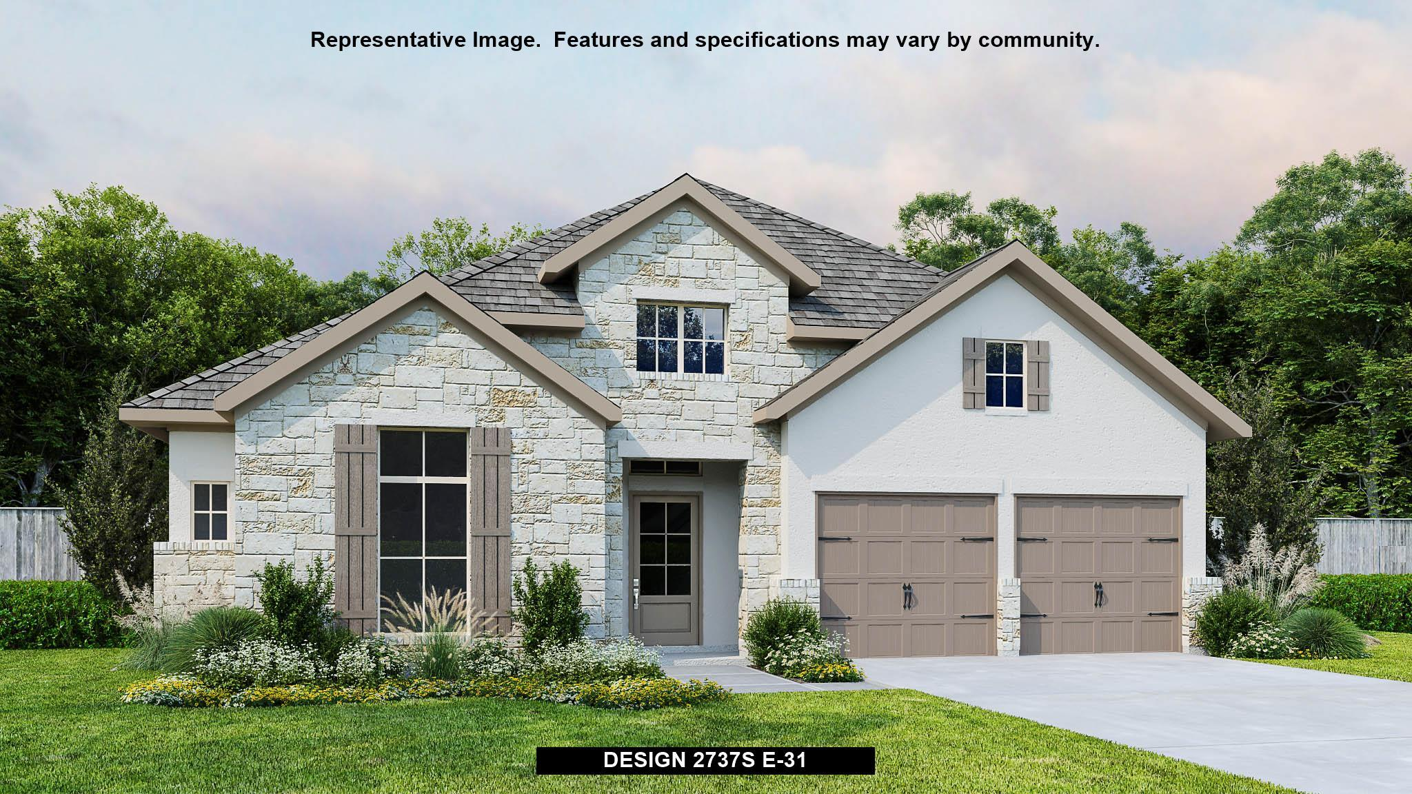 Exterior featured in the 2737S By Perry Homes in San Antonio, TX
