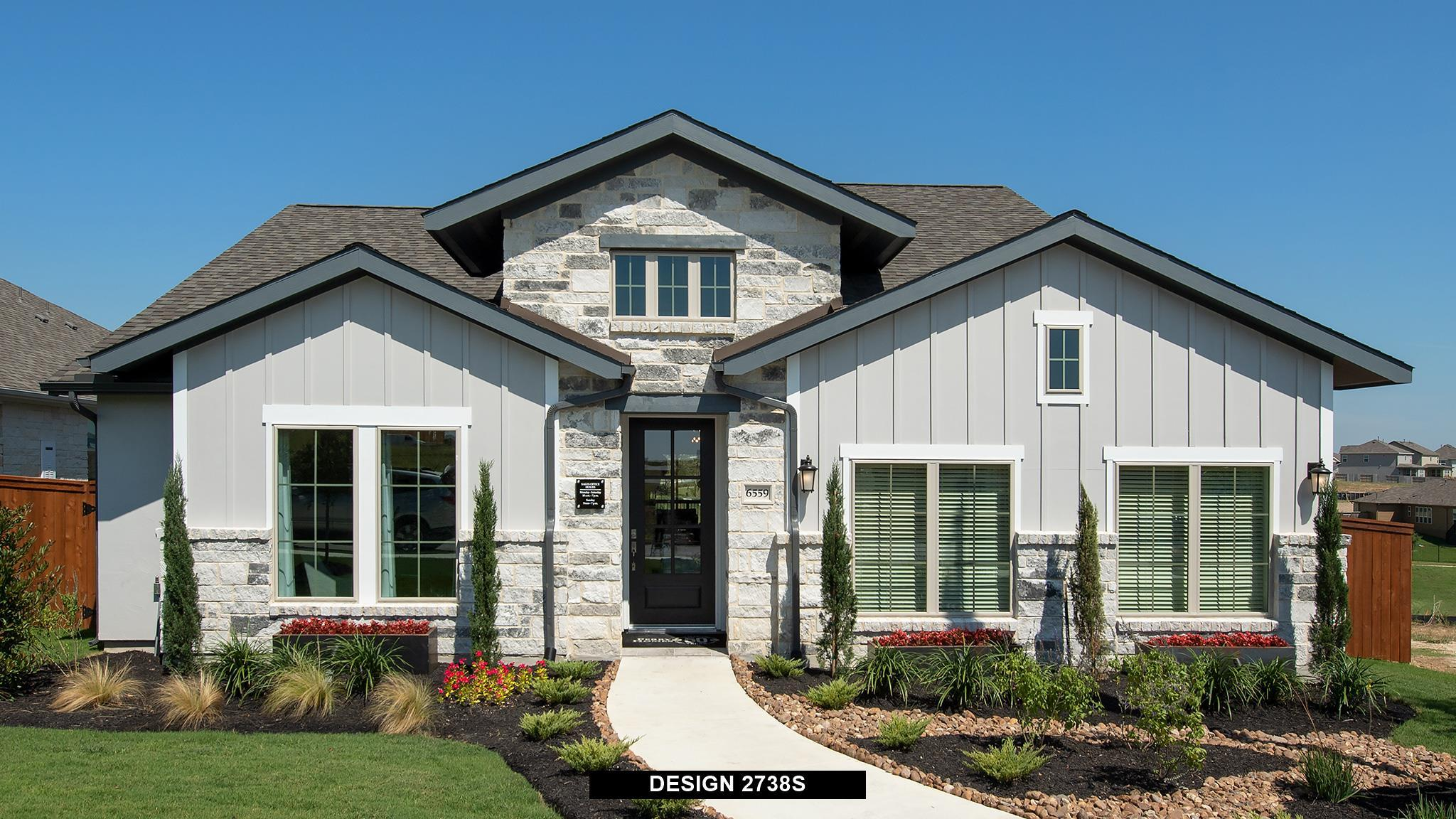 Exterior featured in the 2738S By Perry Homes in Austin, TX