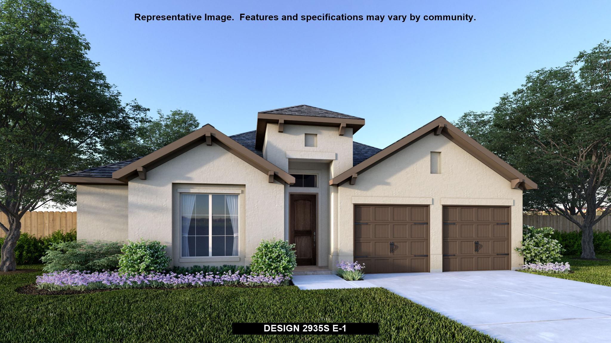 Exterior featured in the 2935S By Perry Homes in Austin, TX