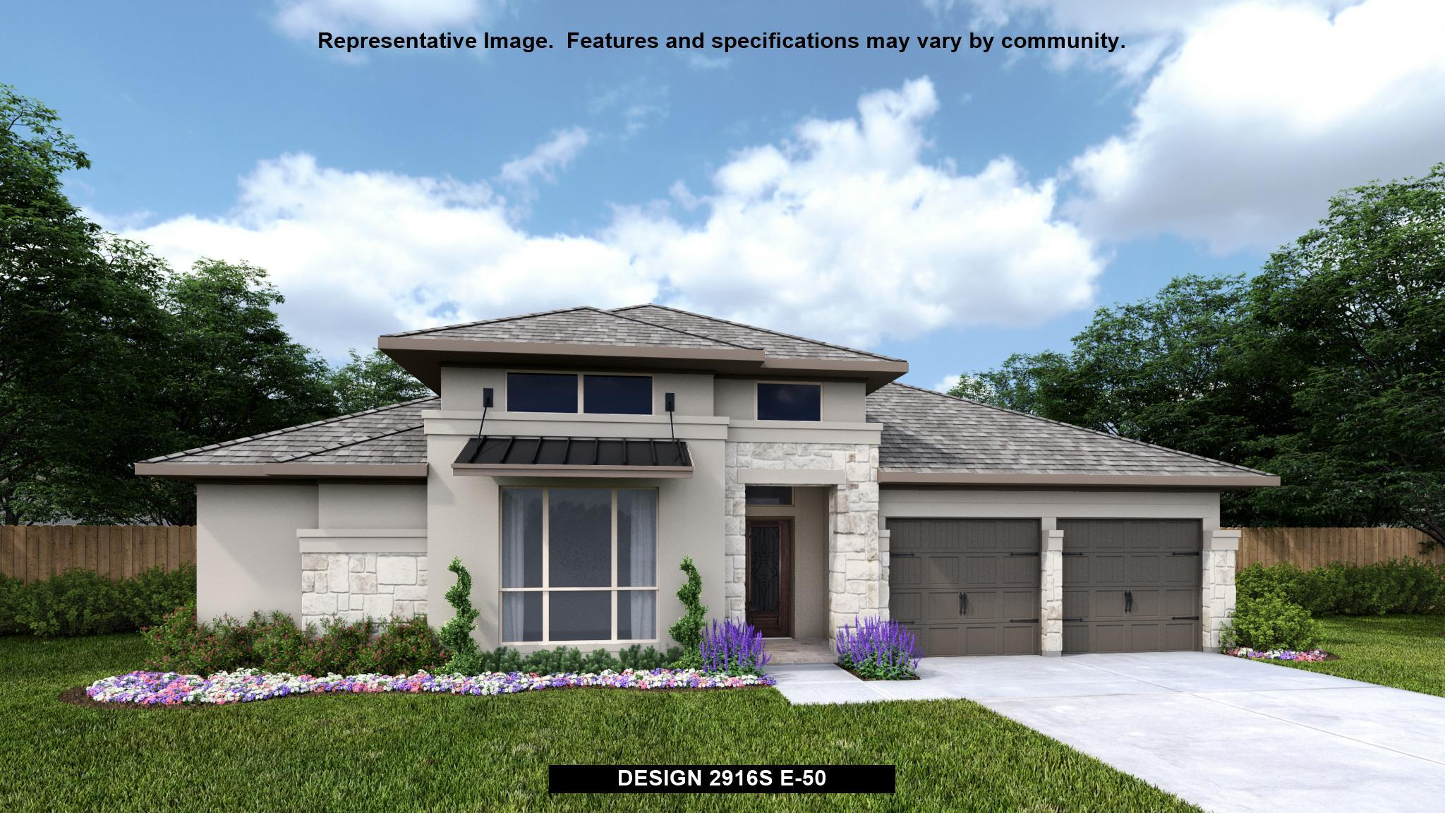 Exterior featured in the 2916S By Perry Homes in Austin, TX