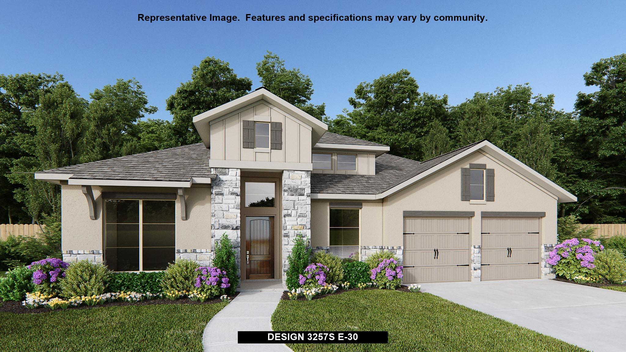 Exterior featured in the 3257S By Perry Homes in Austin, TX