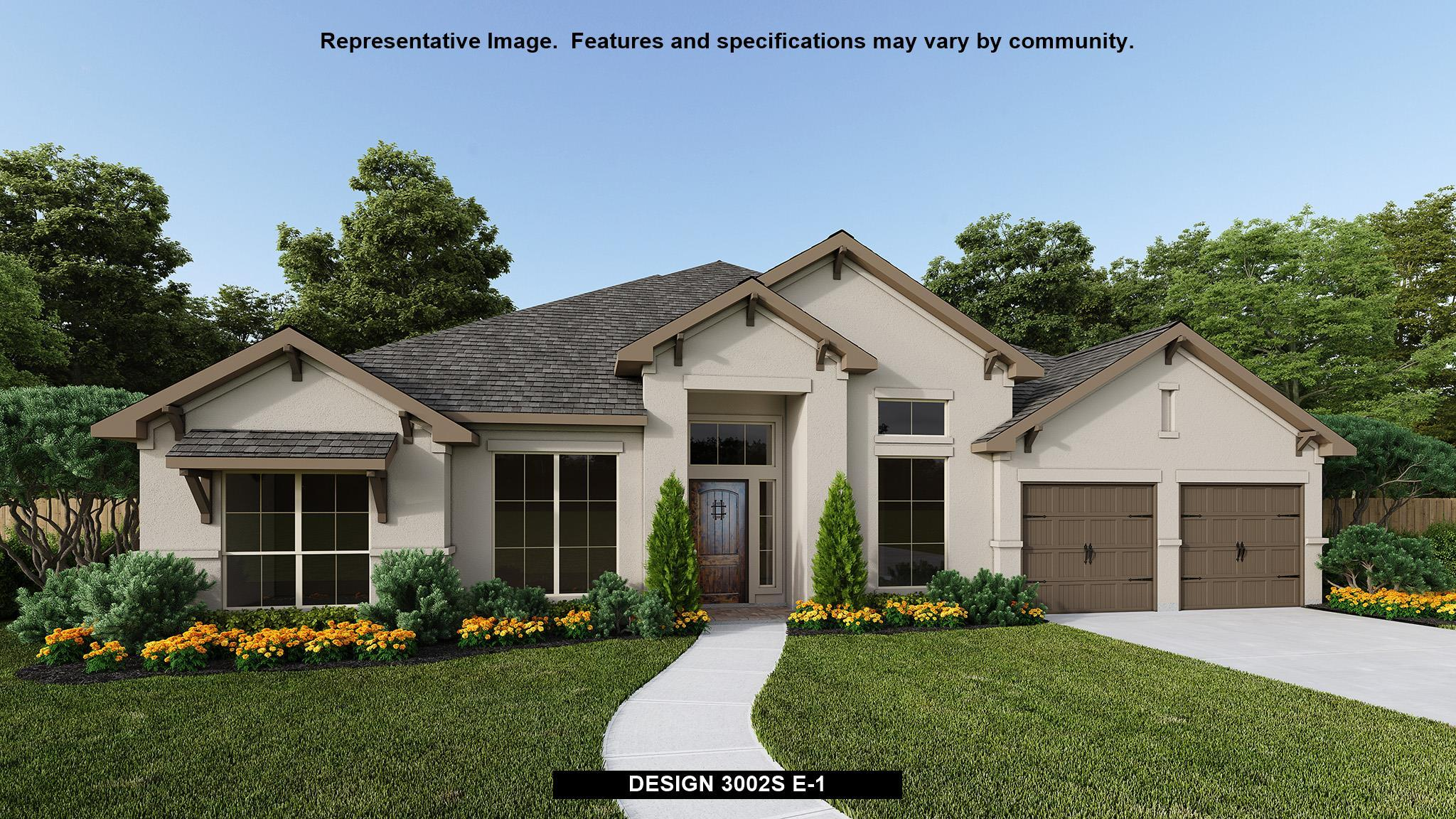 Exterior featured in the 3002S By Perry Homes in Austin, TX
