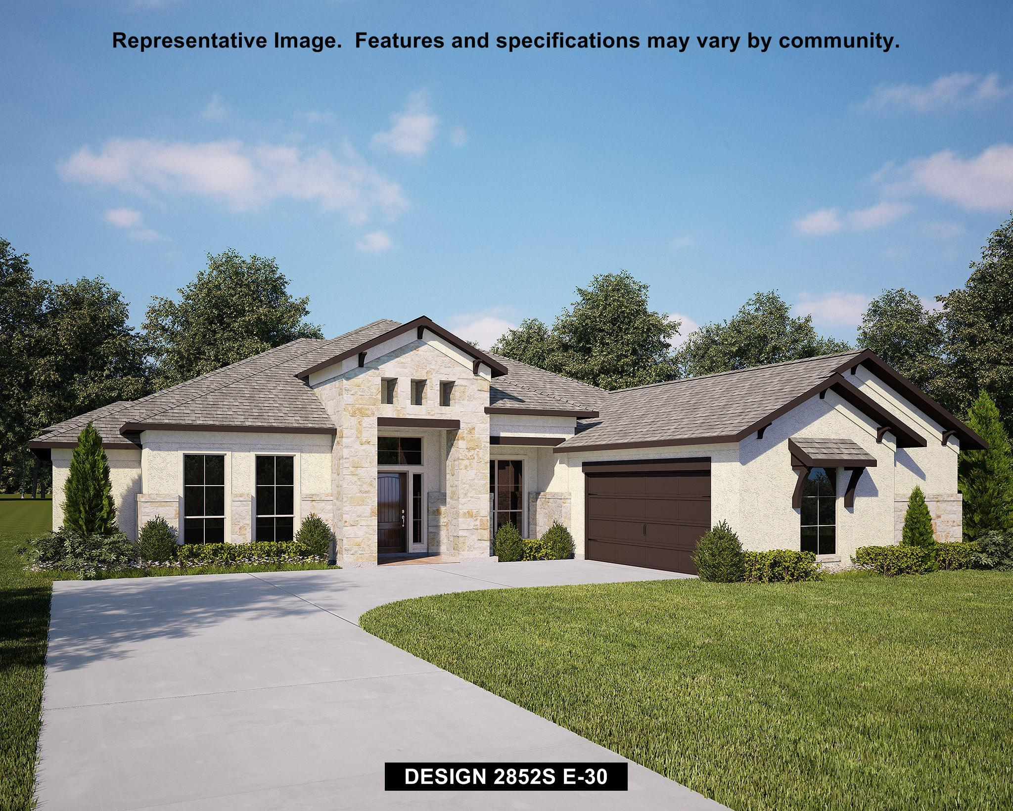 Exterior featured in the 2852S By Perry Homes in Fort Worth, TX