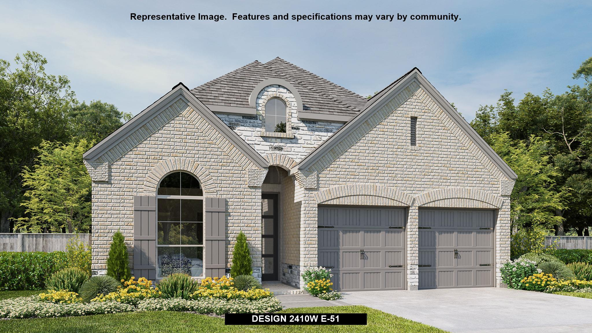 Exterior featured in the 2410W By Perry Homes in Houston, TX