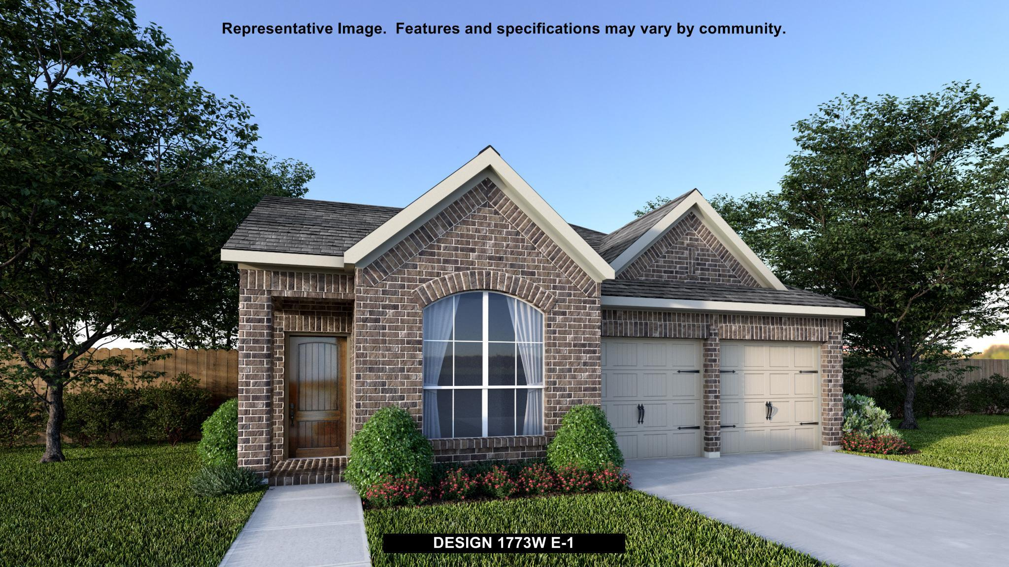 Exterior featured in the 1773W By Perry Homes in Houston, TX