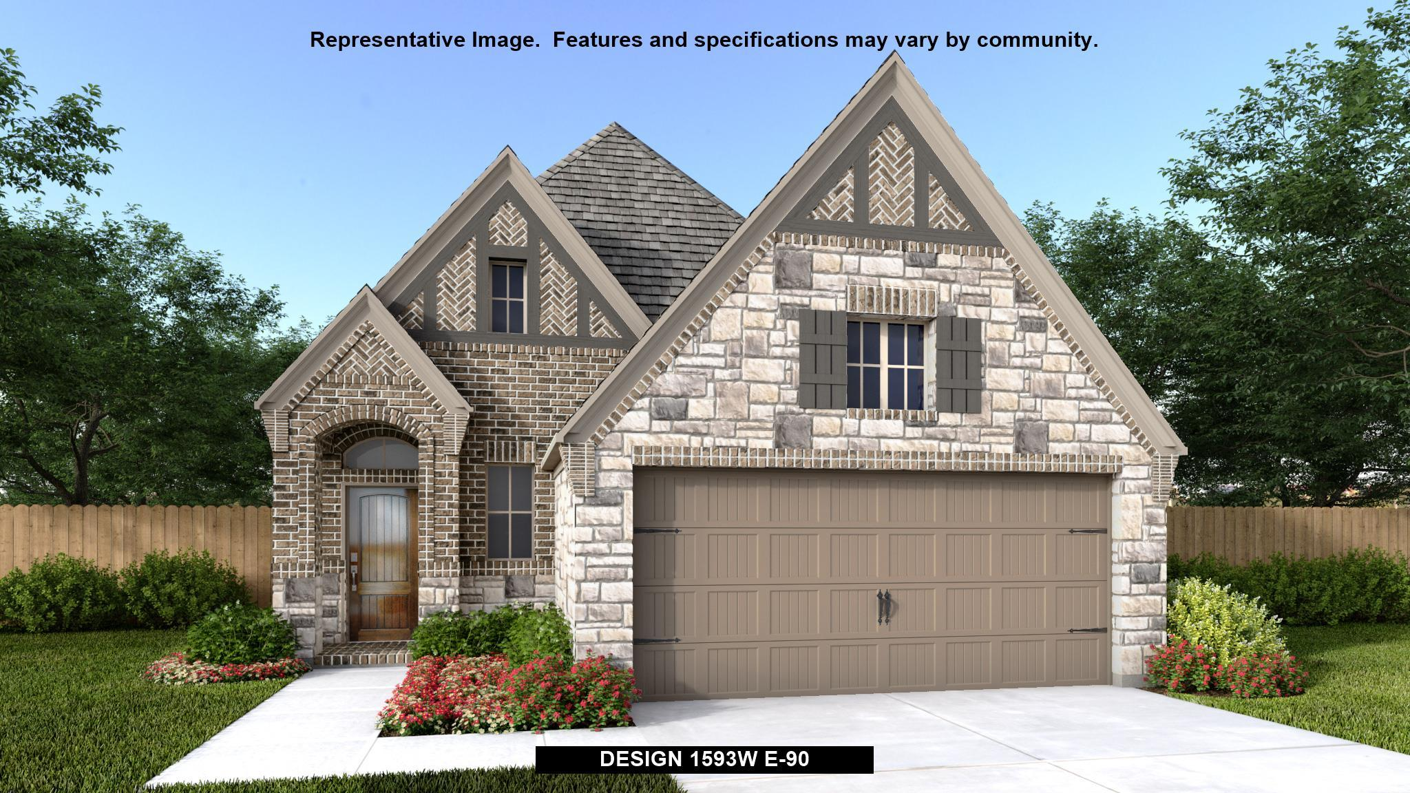 Exterior featured in the 1593W By Perry Homes in Houston, TX