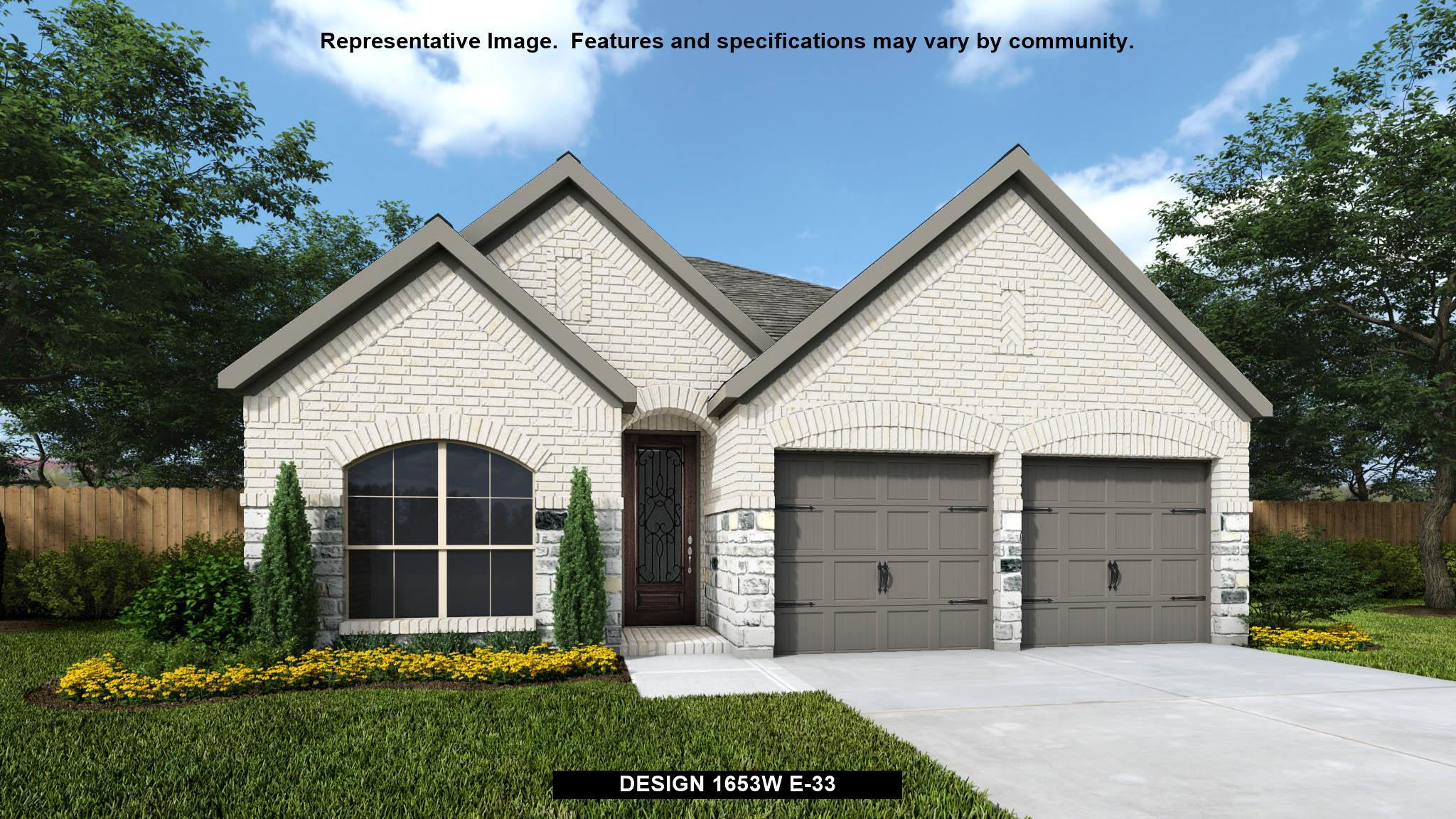 Exterior featured in the 1653W By Perry Homes in Houston, TX