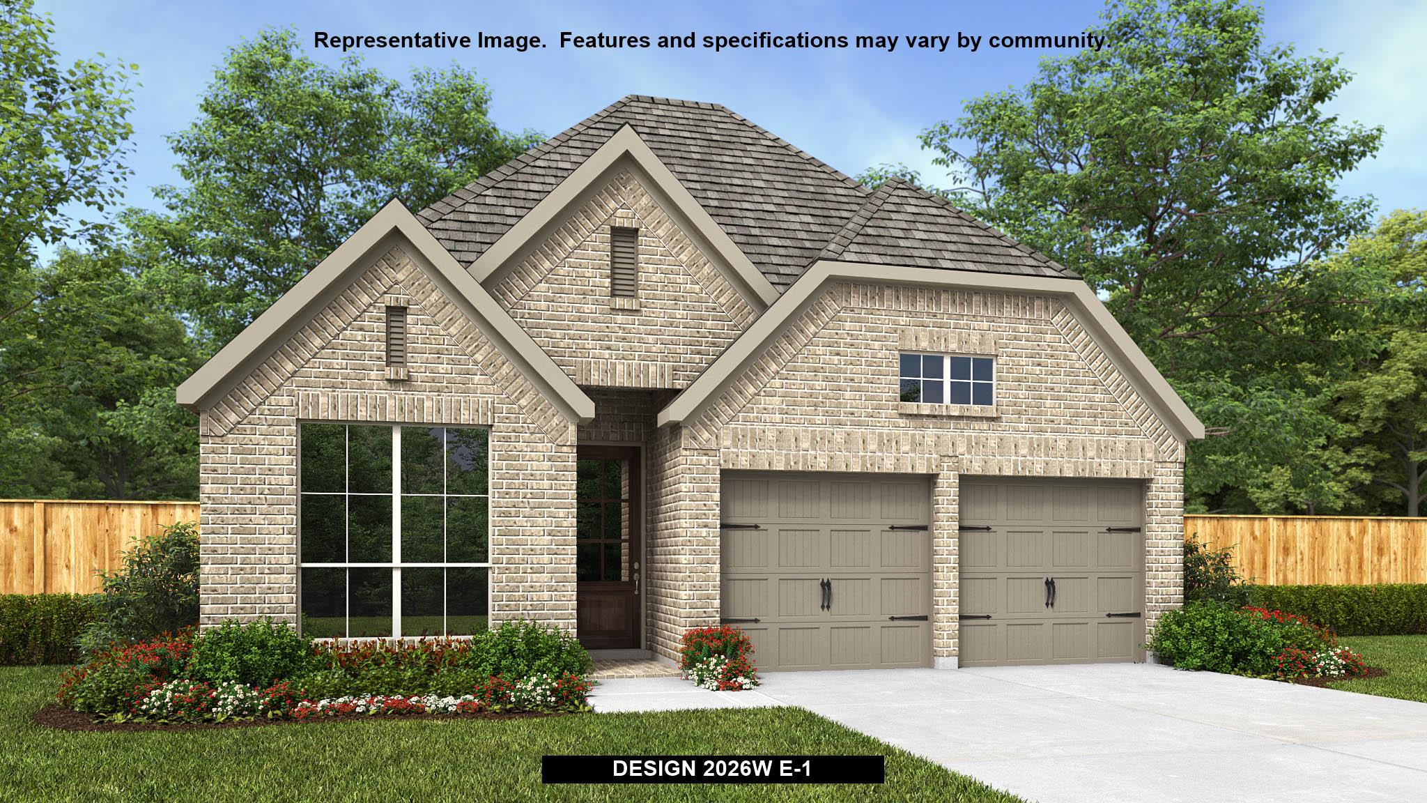 Exterior featured in the 2026W By Perry Homes in San Antonio, TX
