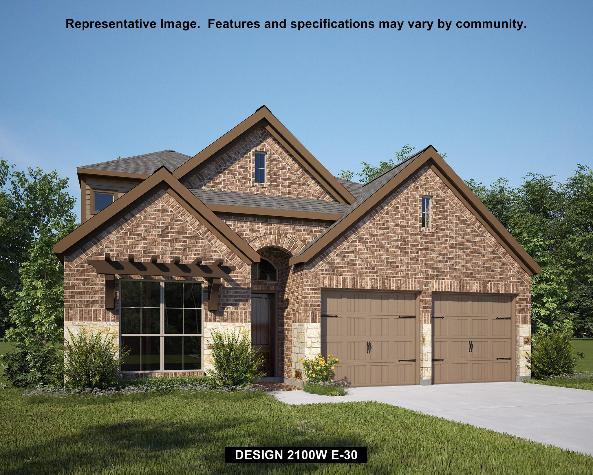 Exterior featured in the 2100W By Perry Homes in Houston, TX