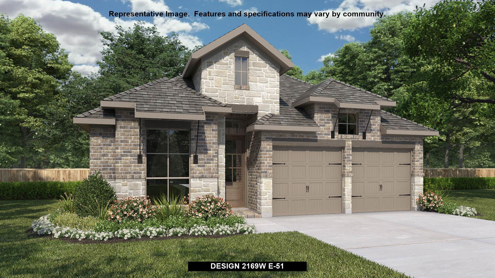 Exterior featured in the 2169W By Perry Homes in San Antonio, TX