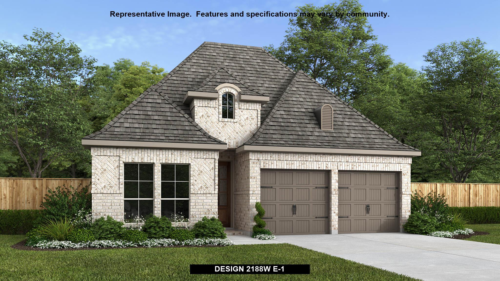 Exterior featured in the 2188W By Perry Homes in Houston, TX