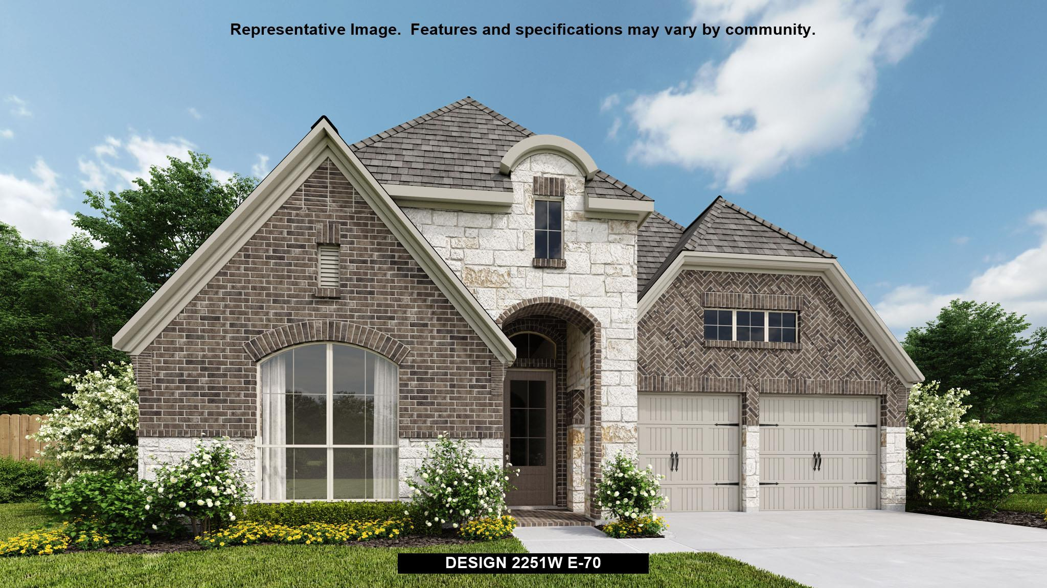 Exterior featured in the 2251W By Perry Homes in Houston, TX