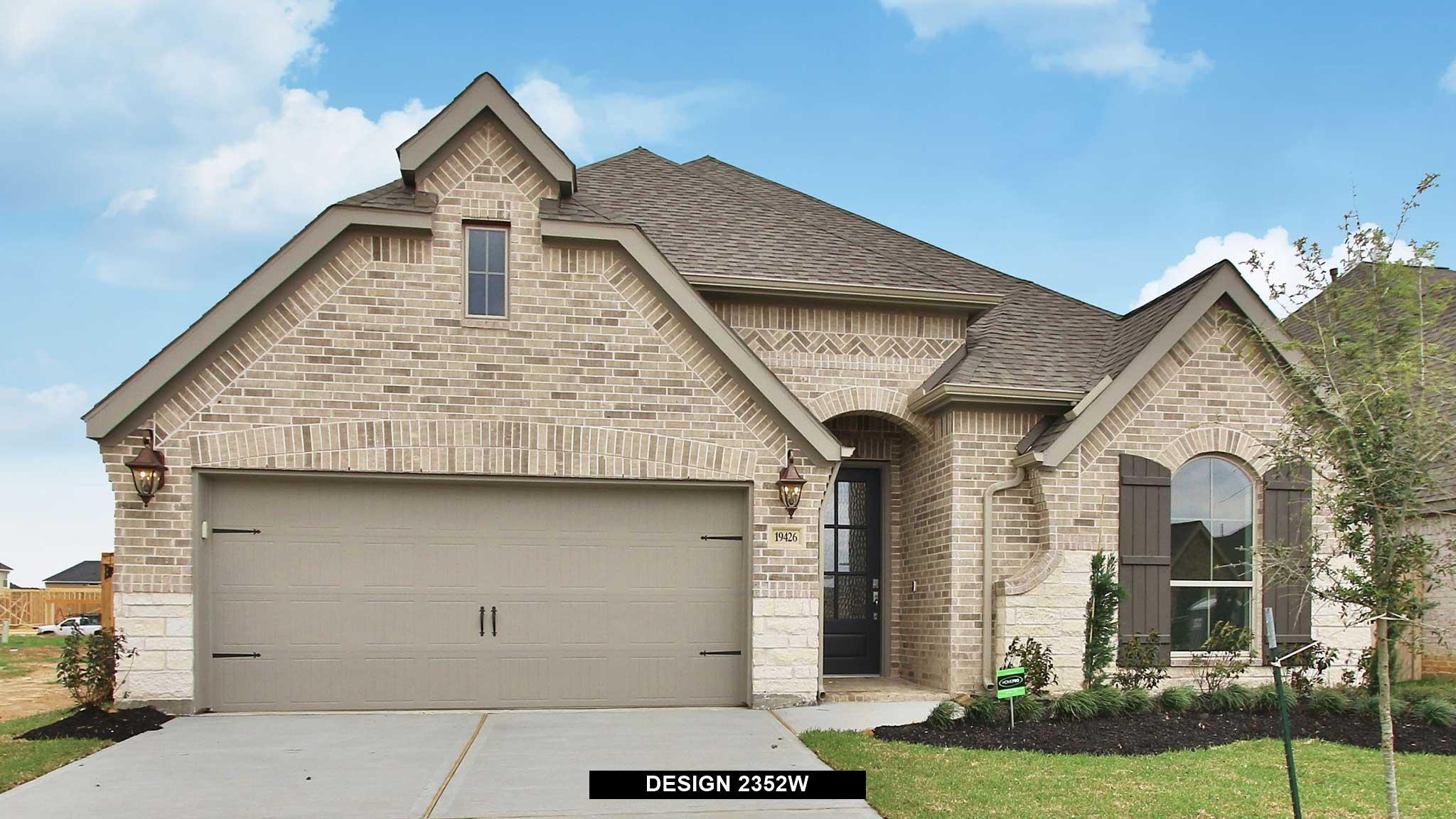 Exterior featured in the 2352W By Perry Homes in Houston, TX