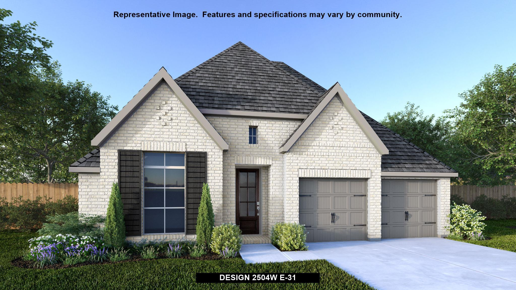 Exterior featured in the 2504W By Perry Homes in Houston, TX
