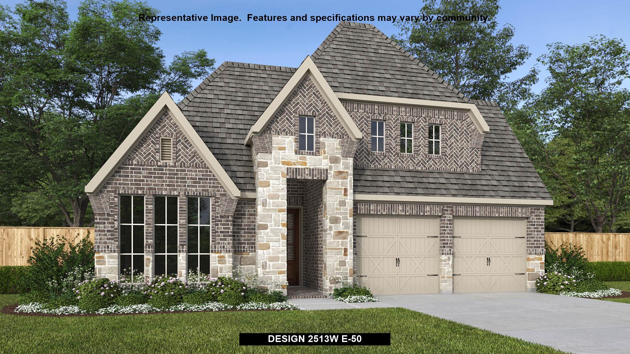 Exterior featured in the 2513W By Perry Homes in Houston, TX