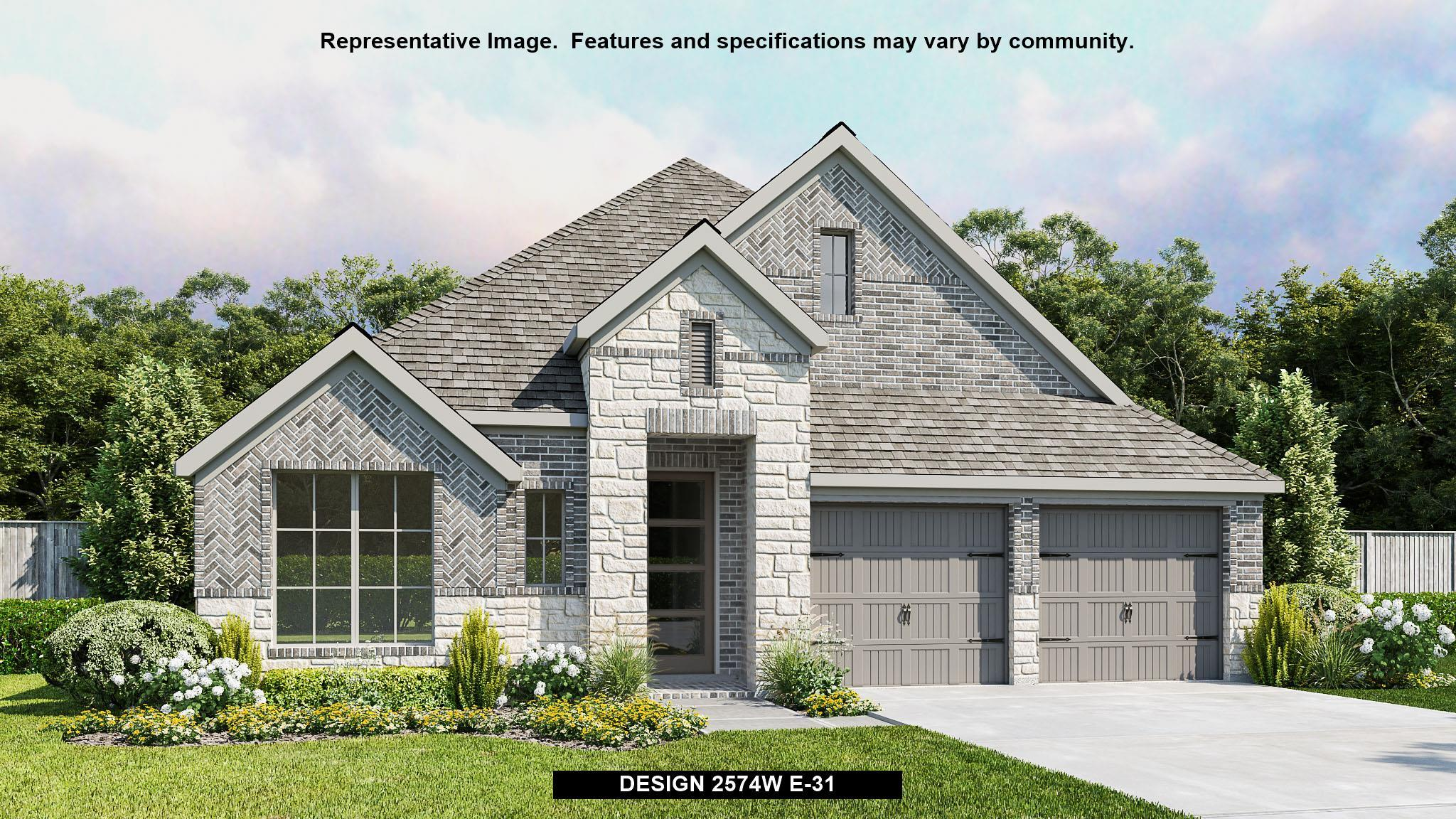 Exterior featured in the 2574W By Perry Homes in Houston, TX