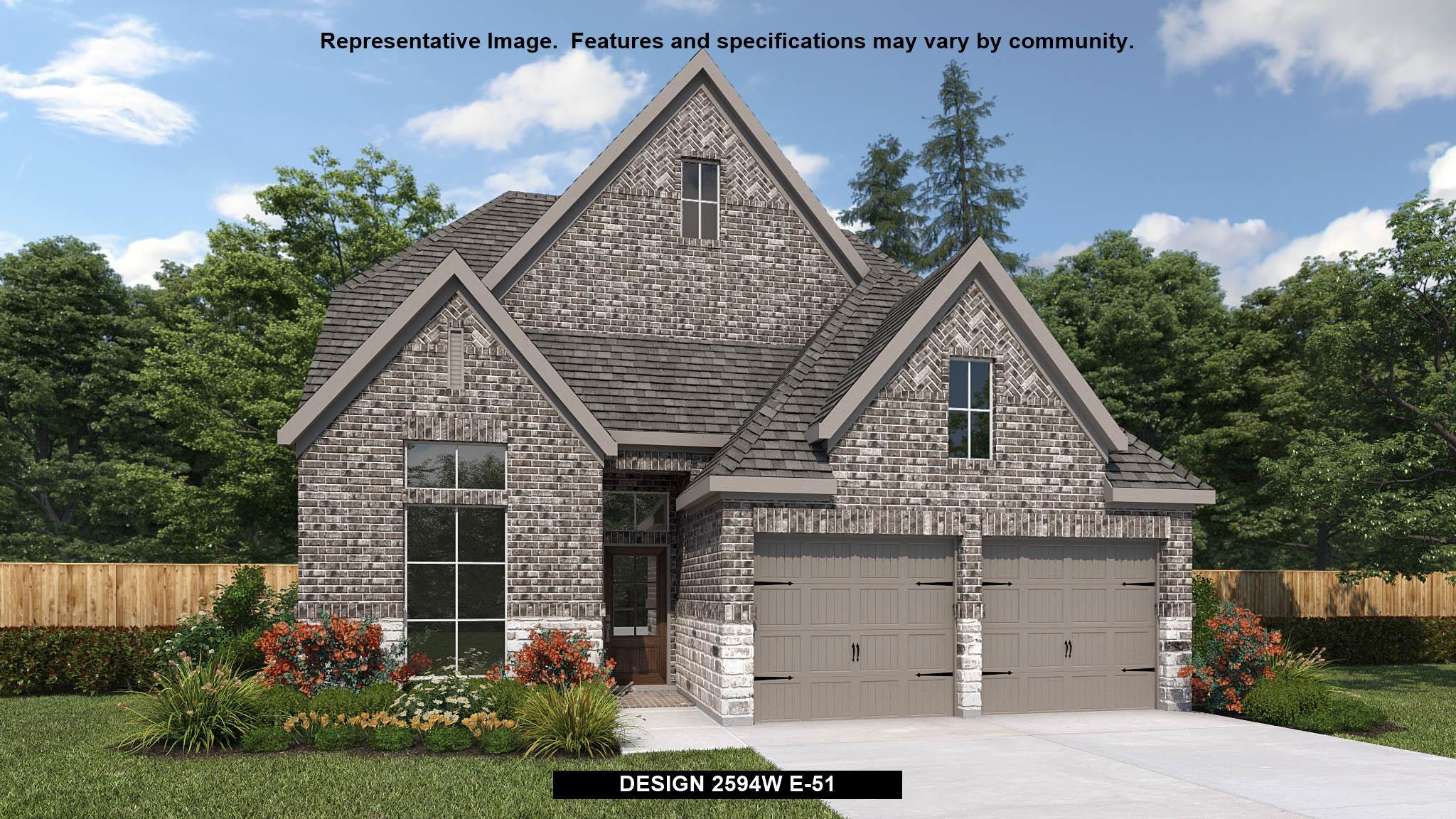 Exterior featured in the 2594W By Perry Homes in Dallas, TX