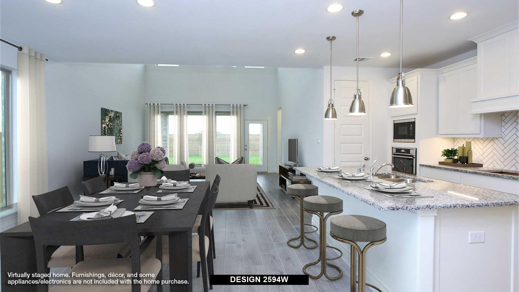 Kitchen featured in the 2594W By Perry Homes in Dallas, TX