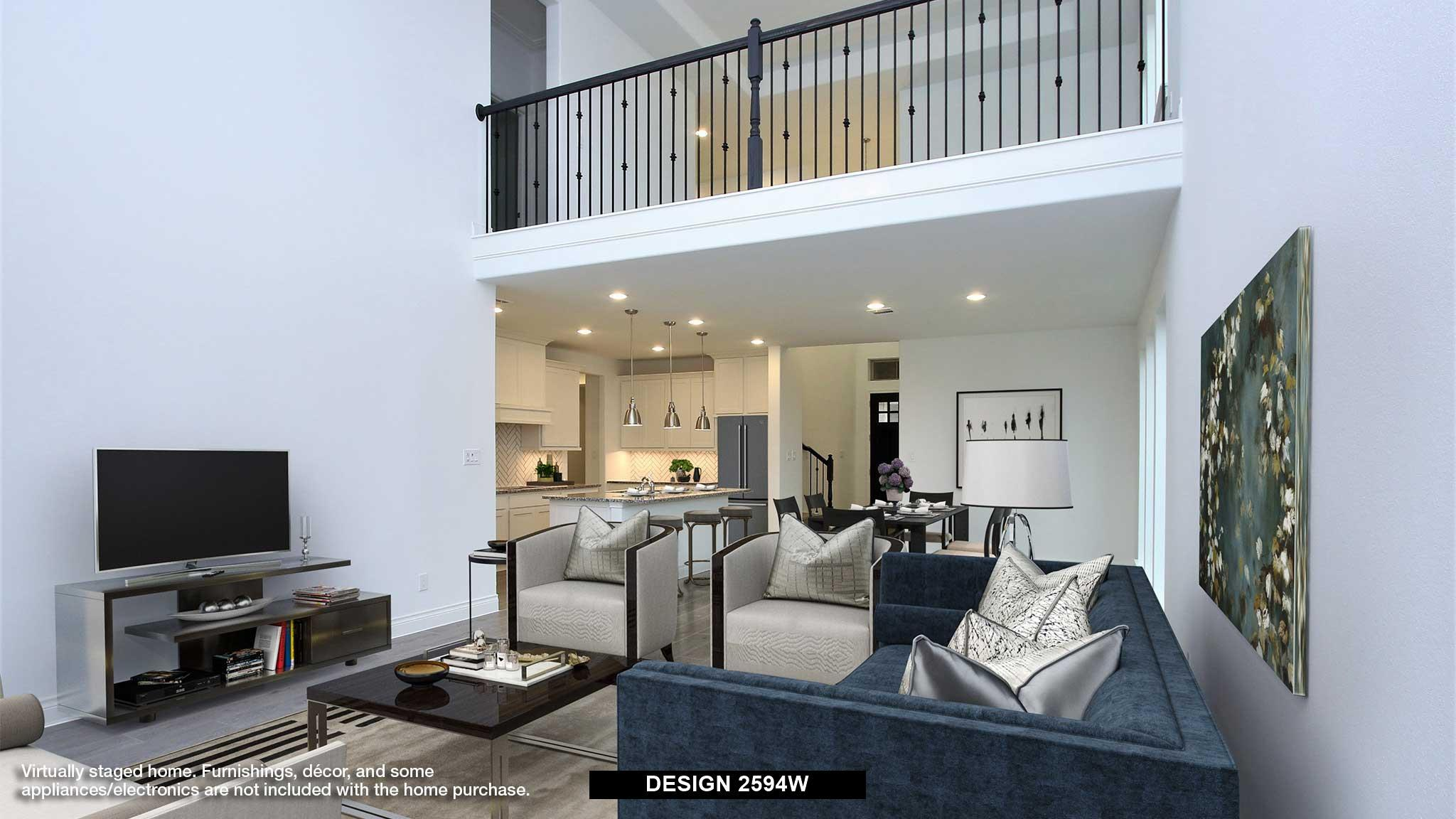 Living Area featured in the 2594W By Perry Homes in Dallas, TX