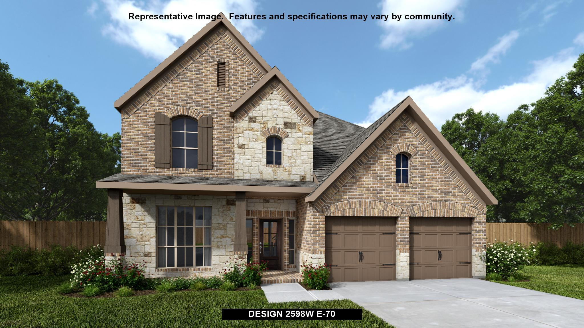 Exterior featured in the 2598W By Perry Homes in Houston, TX