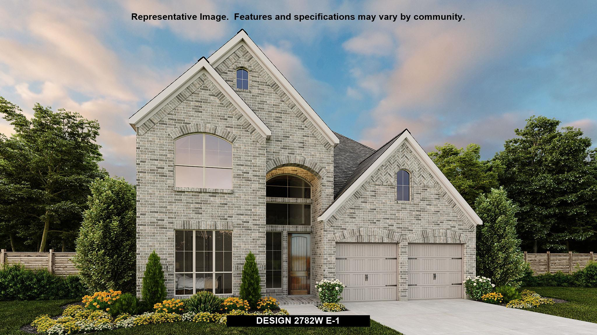 Exterior featured in the 2782W By Perry Homes in Houston, TX