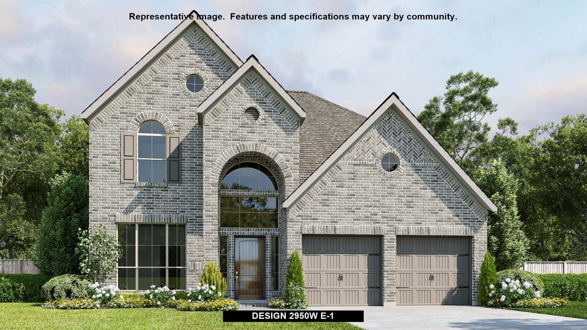 Exterior featured in the 2950W By Perry Homes in Dallas, TX