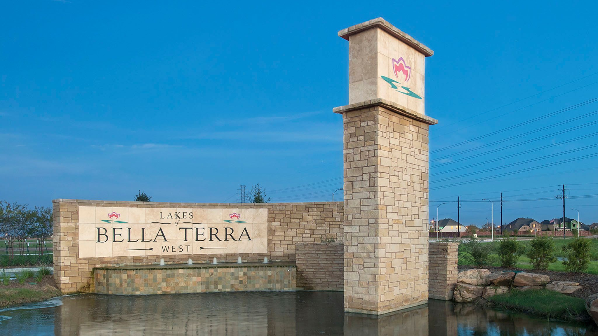 'Lakes of Bella Terra West 40'' by Perry Homes in Houston
