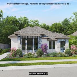 1589W - Palmera Ridge 40': Leander, Texas - Perry Homes
