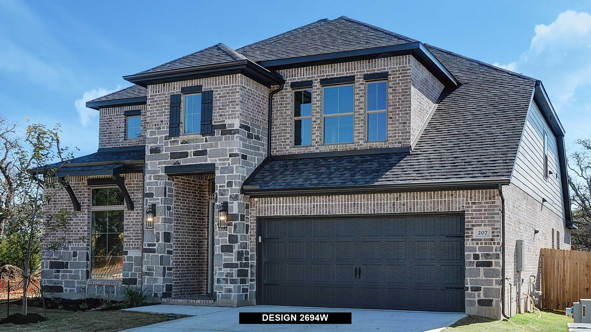 Exterior featured in the 2694W By Perry Homes in San Antonio, TX