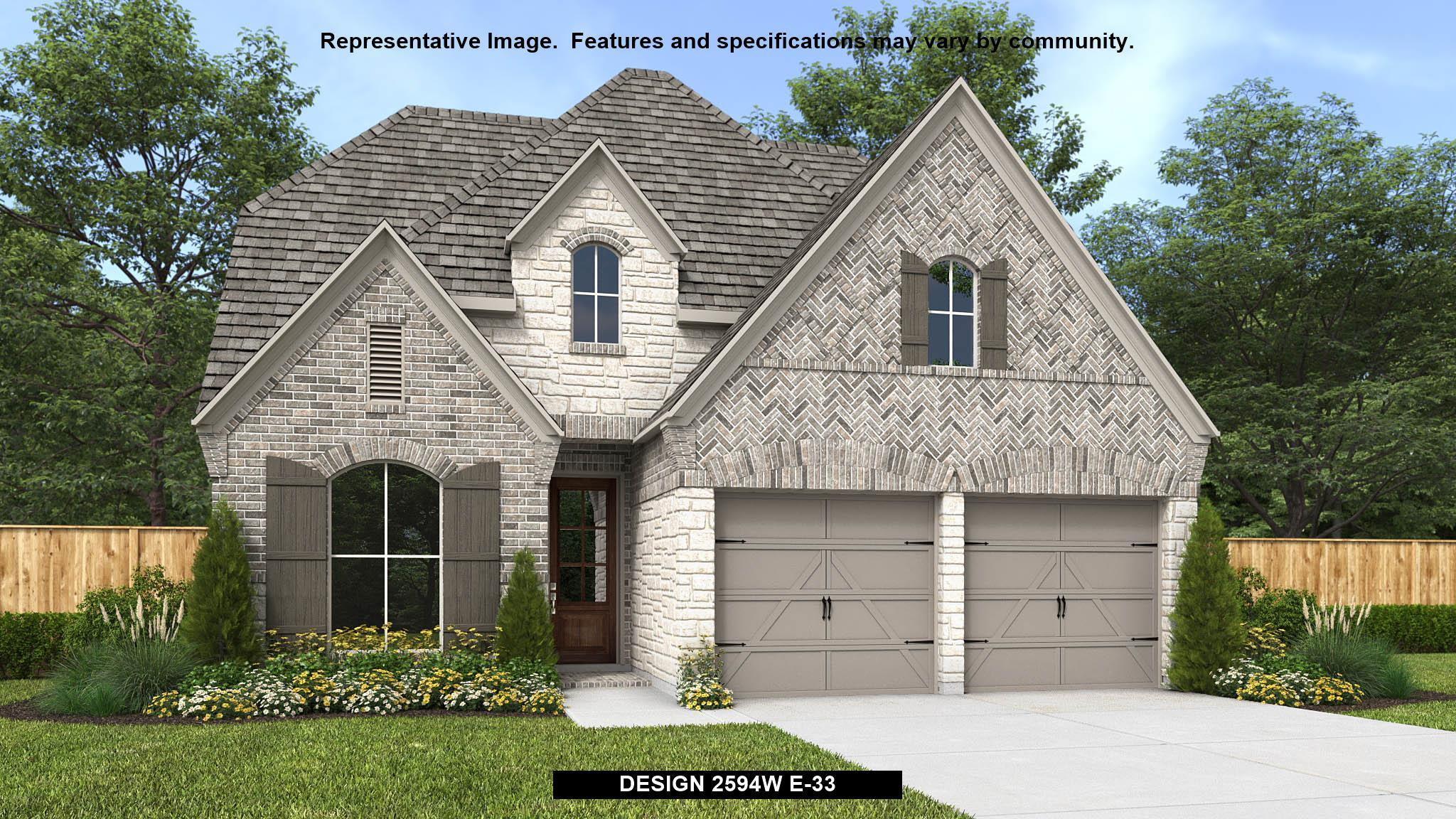 Exterior featured in the 2594W By Perry Homes in Houston, TX