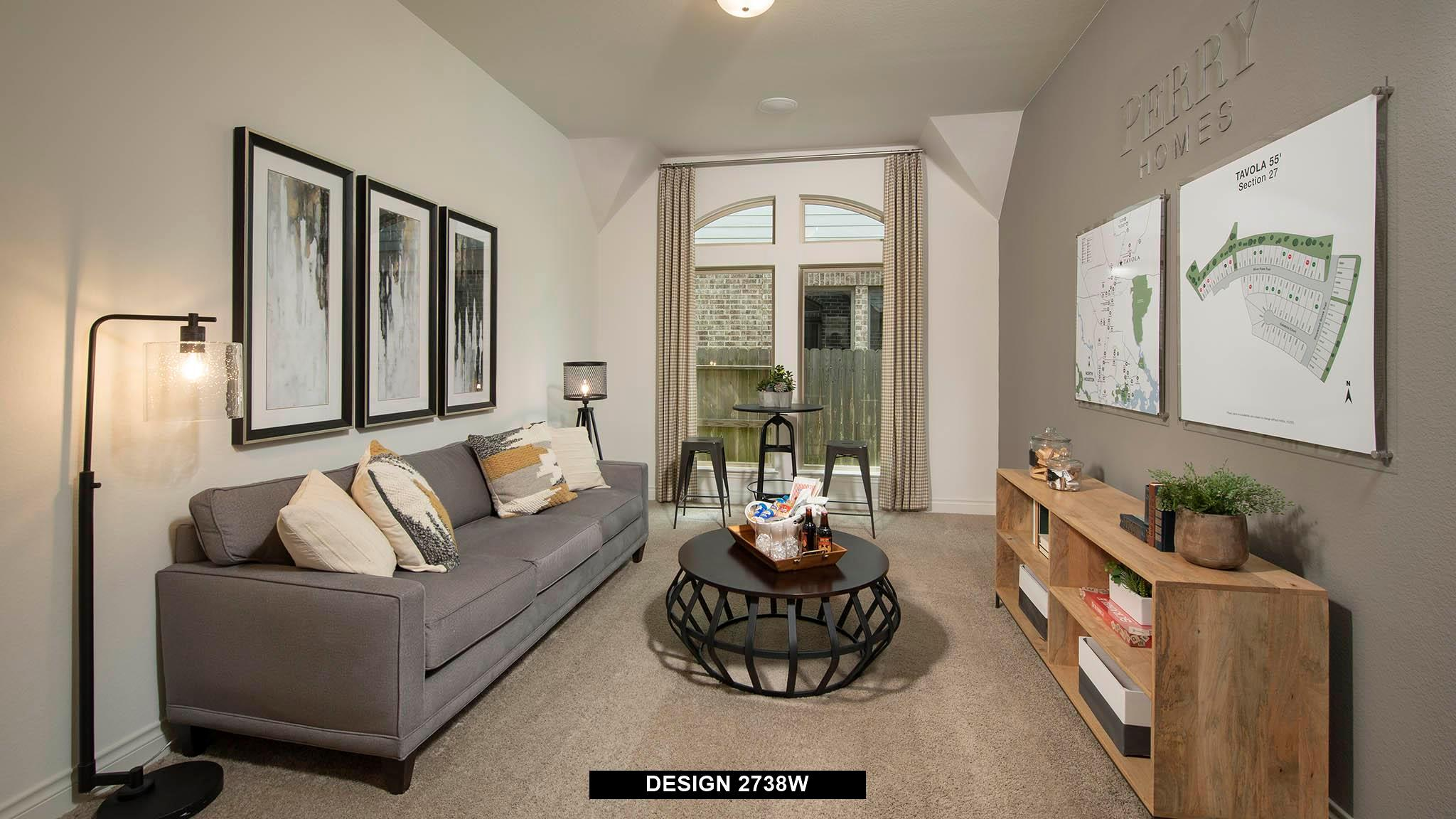 Living Area featured in the 2738W By Perry Homes in San Antonio, TX
