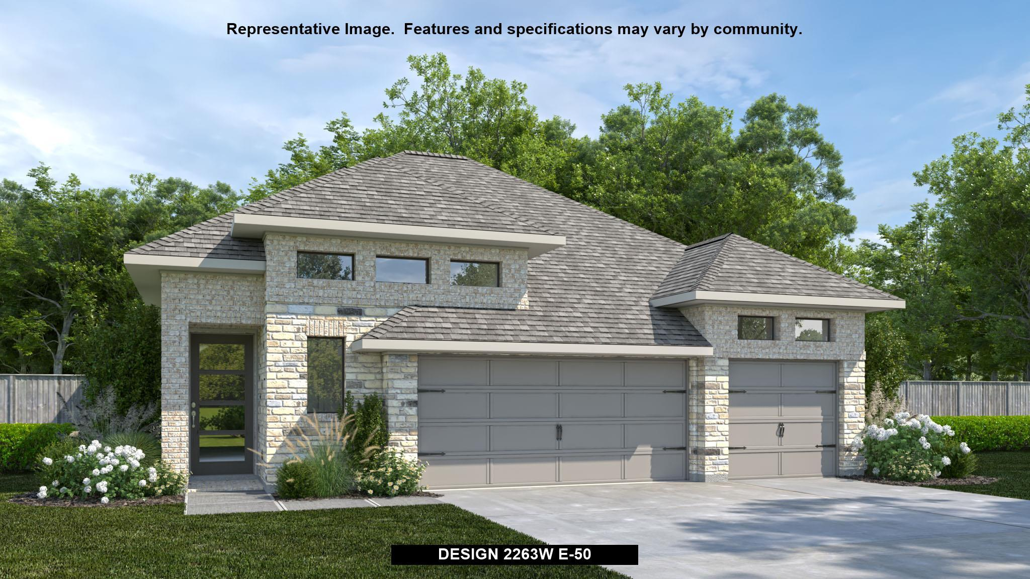 Exterior featured in the 2263W By Perry Homes in Houston, TX